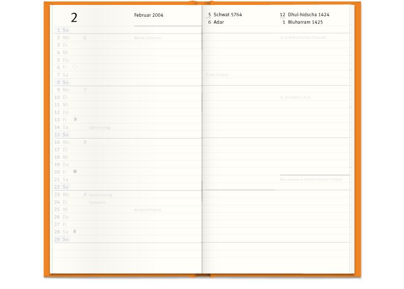 Der christlich-jüdisch-islamische Kalender – Innenseiten