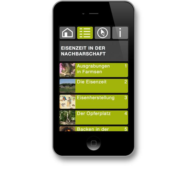 DigiKultur – mgf gartenstadt farmsen - Archäologiepfad: Übersicht Stationen