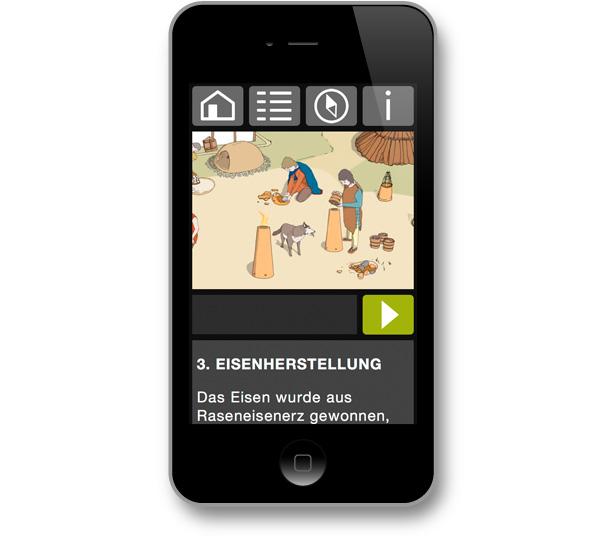 DigiKultur – mgf gartenstadt farmsen - Archäologiepfad: Eisenherstellung