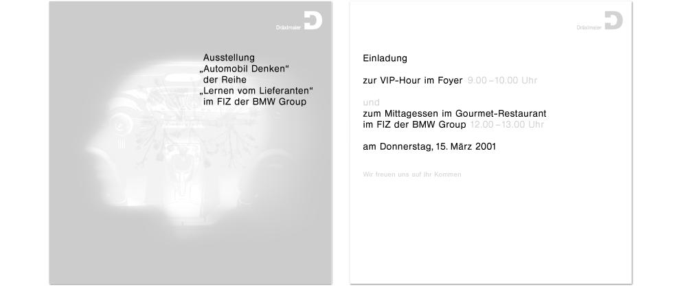 Dräxlmaier Group – Einladung: Karte