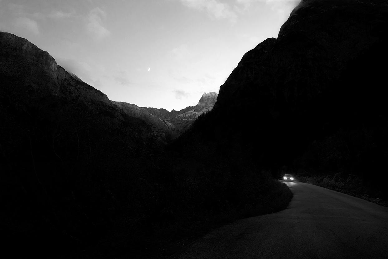 Dämmerung im Gebirge