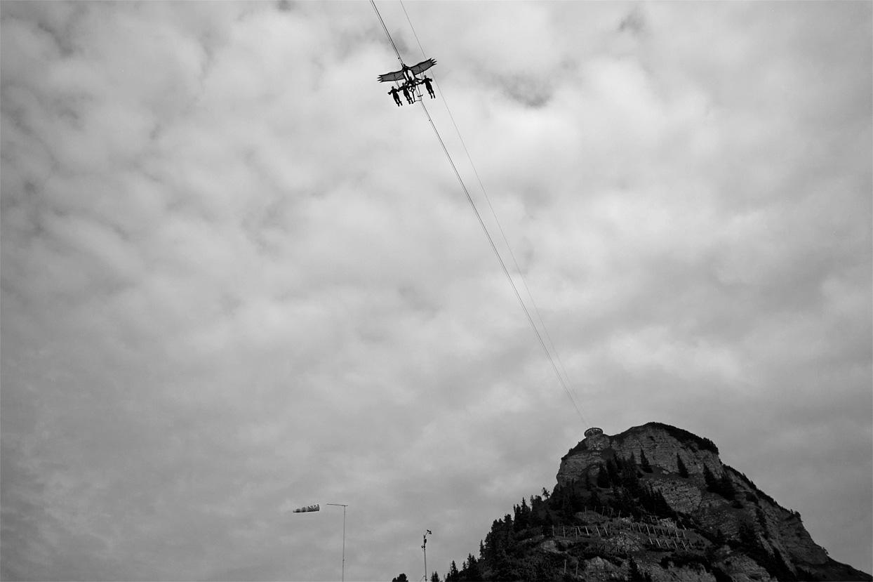 Airrofan Skyglider und Aussichtsplattform am Gschöllkopf